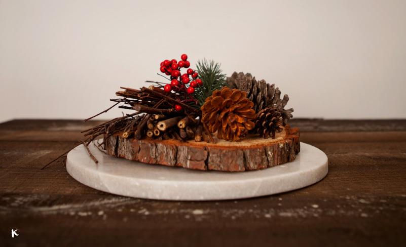 Ideas para tus centros de mesa navideos