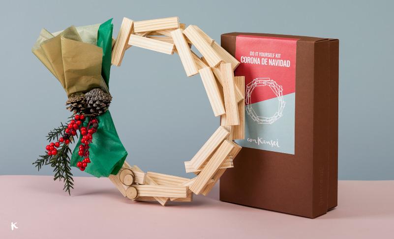 Kit diy corona de navidad de madera la mejor decoraci n - Decoracion de navidad casera ...