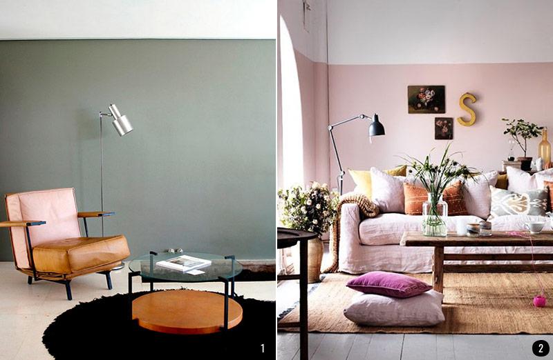 Pintar el sal n en dos colores ideas Como pintar las paredes del salon
