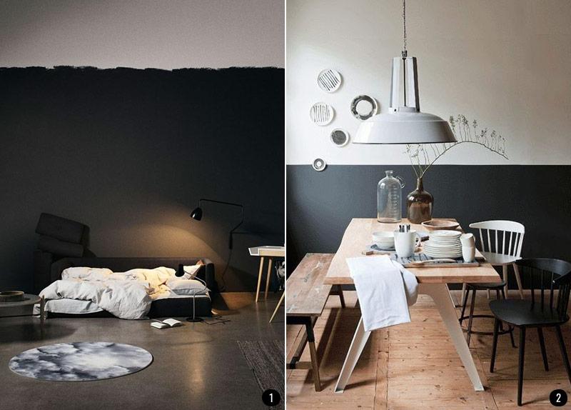 pintar el sal n en dos colores ideas. Black Bedroom Furniture Sets. Home Design Ideas