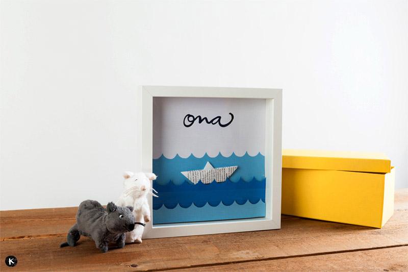 DIY para la decoración de habitaciones infantiles: un cuadro en relieve