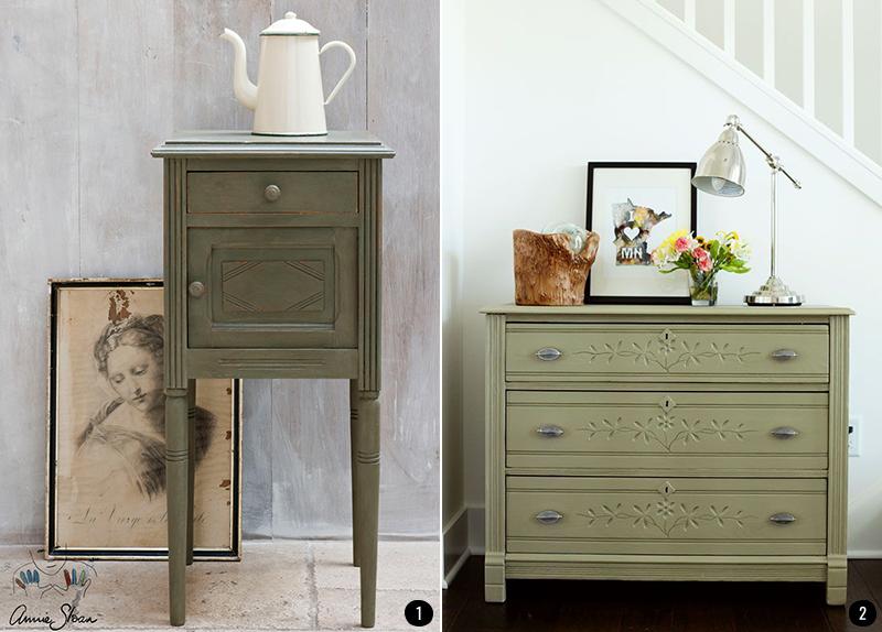 4 colores de moda para muebles pintados con chalk paint - Pintar muebles antiguos de colores ...