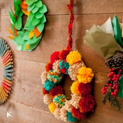 Decoración navideña casera: 4 coronas DIY