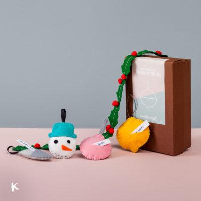 Kit para la decoración navideña: figuras de fieltro DIY