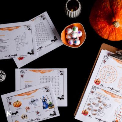 Los pasatiempos de Halloween más terroríficos para niños