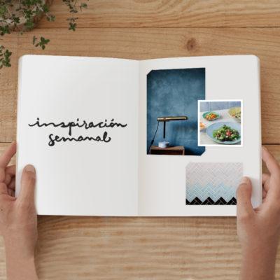 Inspiración semanal: paleta de colores moody blue, mint, amarillo mostaza y algo más