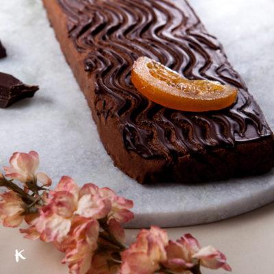 Receta de turrón de chocolate negro y naranja confitada